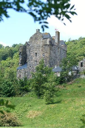 Muirhall Luxury Holiday Cottages: castle neidpath near tweed river
