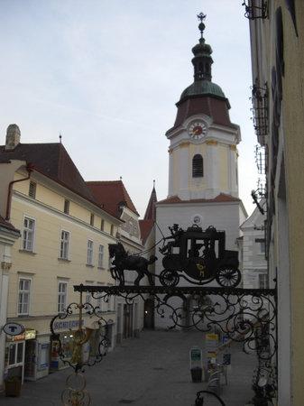 Krems an der Donau, Austria: Blick aus dem Zimmer Nr. 1