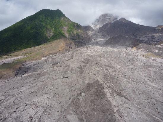 St. John's, Antigua: Montserrat ash lava flow