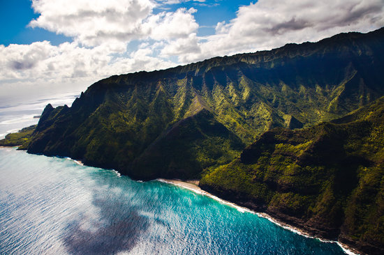Hanapepe, ฮาวาย: Napali Coastline from Heli