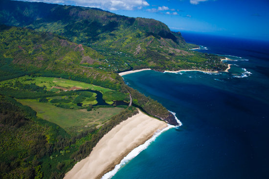Hanapepe, HI: Beach view from Heli