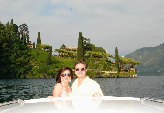 Grand Hotel Villa Serbelloni: using their private boat for a tour of the lake