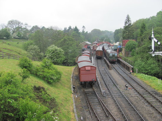The Goathland Hotel: Goathland Station, settings for both Heartbeat and Harry Potter movies.  North Yorkshire Moors R