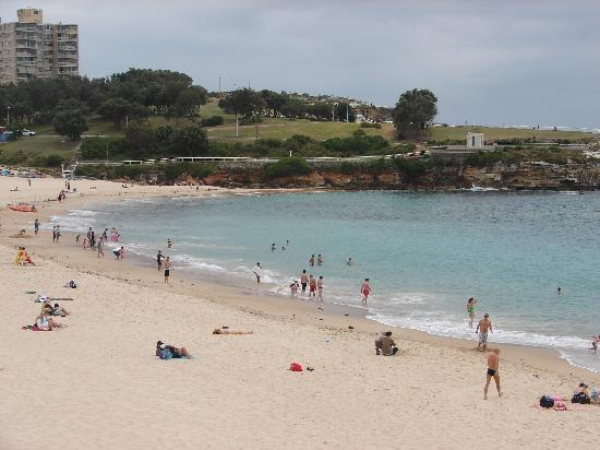 View of the Coogee beach from my room