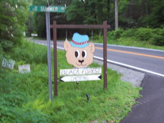 Cedar Mountain, NC: Black Forest sign