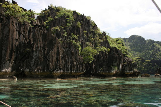 Coron, Philippines: limestone structures