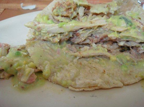 Cuauhtemoc, Mexico: Taco de pavo con guacamole :)