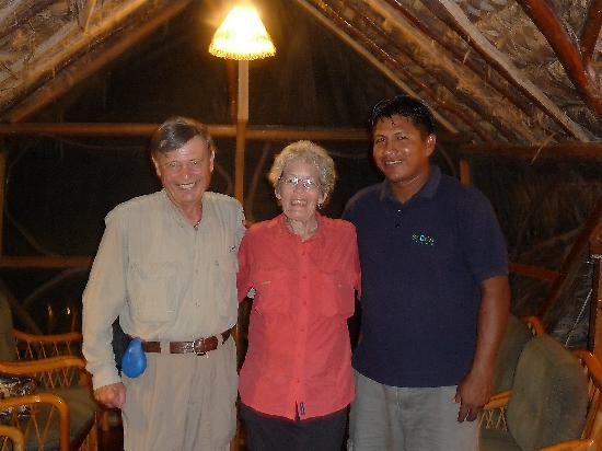 Sacha Lodge: My husband and I and Marcelo Andy, our bird guide