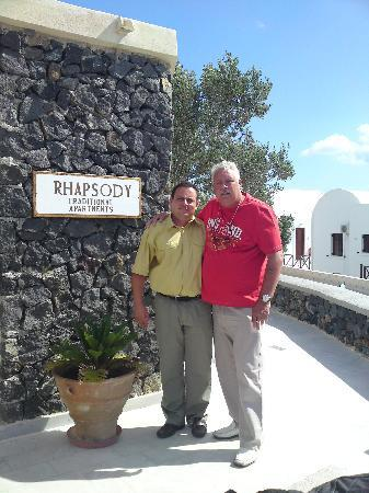 Rhapsody Traditional Apartments: owner outside reception