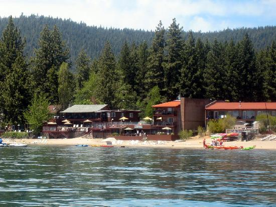 Ferrari's Crown Resort: View of hotel from our canoe