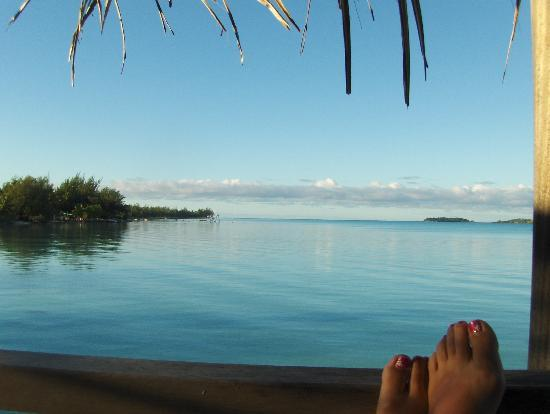 InterContinental Bora Bora Resort & Thalasso Spa: The view from our deck.
