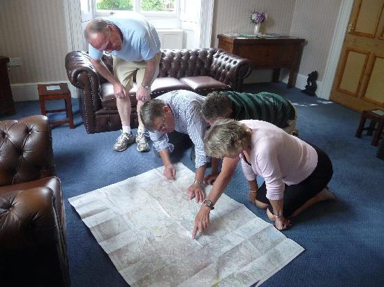 Trimnells House: Planning the route! :-)