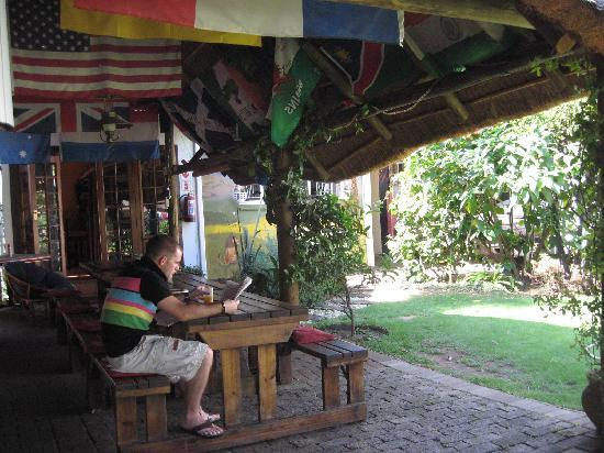 1322 Backpackers International: outside eating area