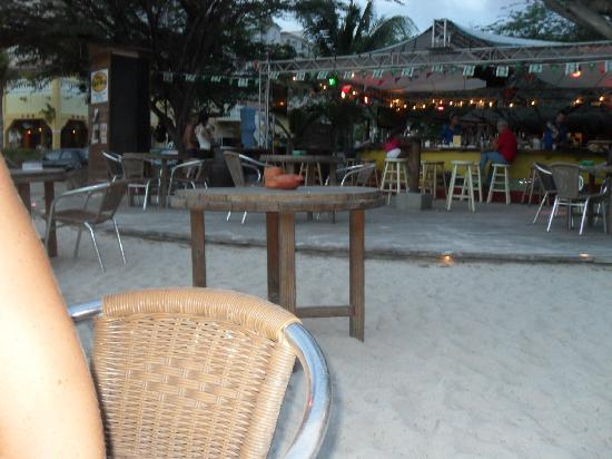 Moomba Beach Bar & Restaurant: View of the bar around 6p.