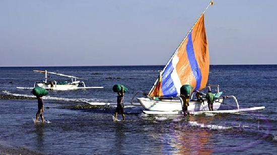 Arya Amed Beach Resort: Fishing ,diving and snorkeling