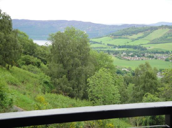 Achmony Lodges: view from our balcony