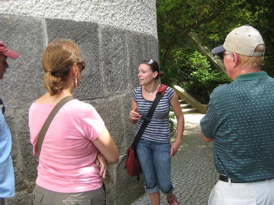 Private Prague Guide Day Tours: Veronika guiding us in Prague