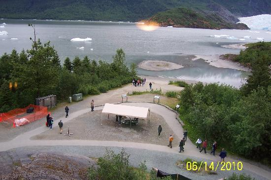 Mendenhall Glacier Visitor Center: View from Visitors Center