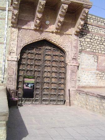 Fort Chanwa: Porche d'entrée côté extérieur