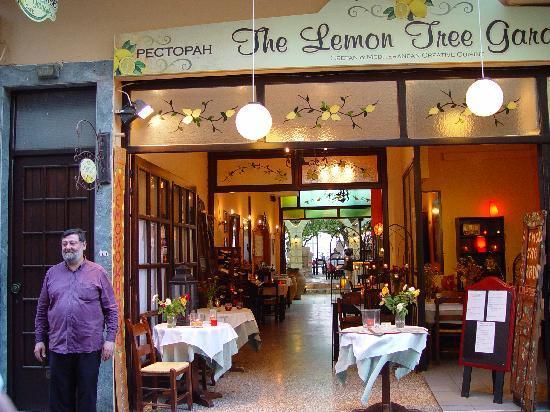 Lemonokipos Restaurant : Entrance by the street