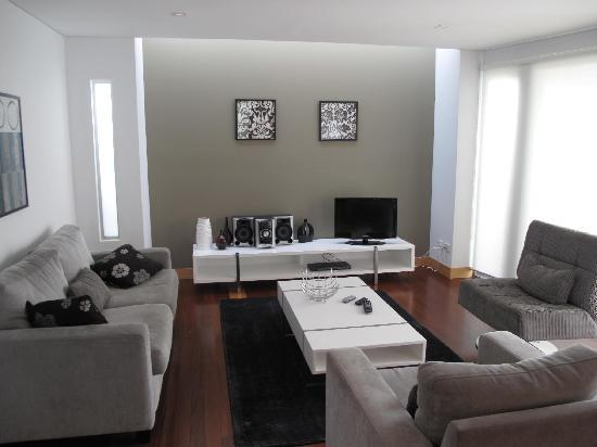 La Loft Apartments Parkside: The spacious living room with Hifi and DVD