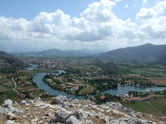Dalyan from the Caunos acropolis