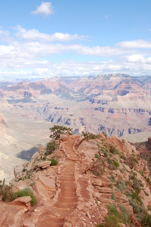 Εθνικό πάρκο Grand Canyon, Αριζόνα: Kaibab trail going into Cedar Point