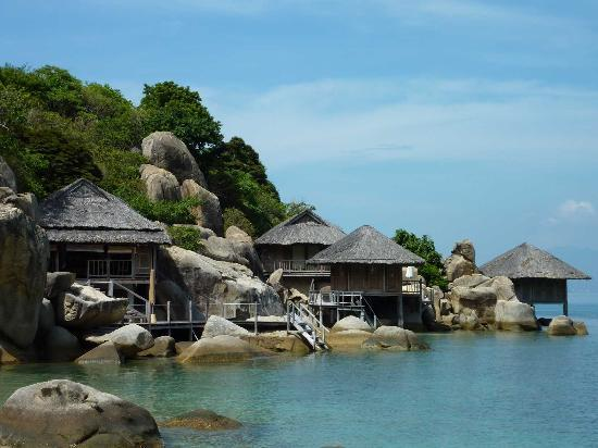 Six Senses Ninh Van Bay: View of Sea Villas from Jetty
