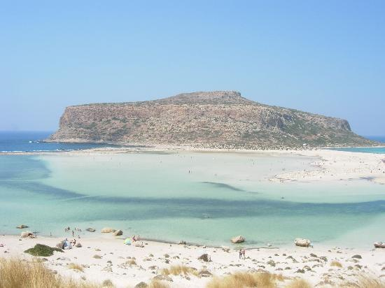 Balos Beach and Lagoon: the lagoon as seen from the hill