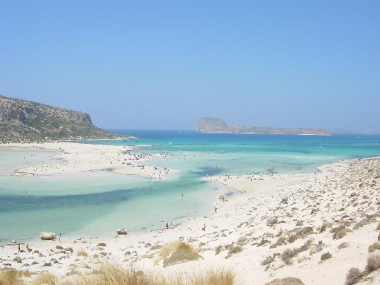 Balos Beach and Lagoon: the lagoon and the sea