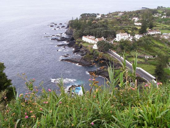 Ponta Delgada, Portugal: Looking down upon the coast of Sao Miquel, Azores