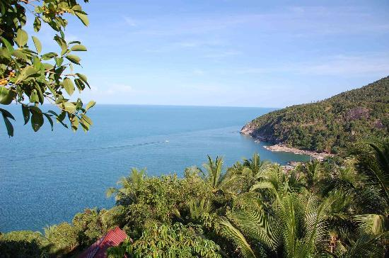 Seaview Bungalows Thansadet: Blick vom Viewpoint auf Than Sadet beach