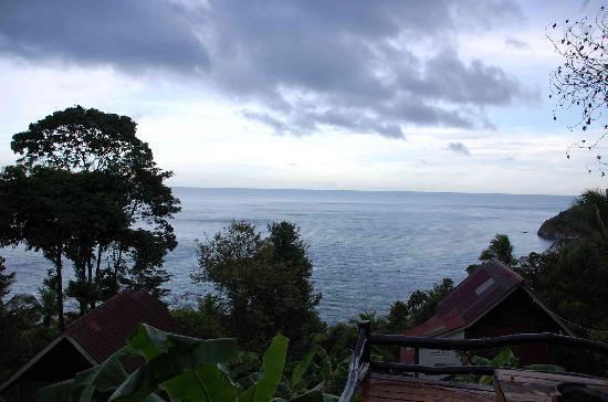 Seaview Bungalows Thansadet: Blick von der Restaurant-Terasse