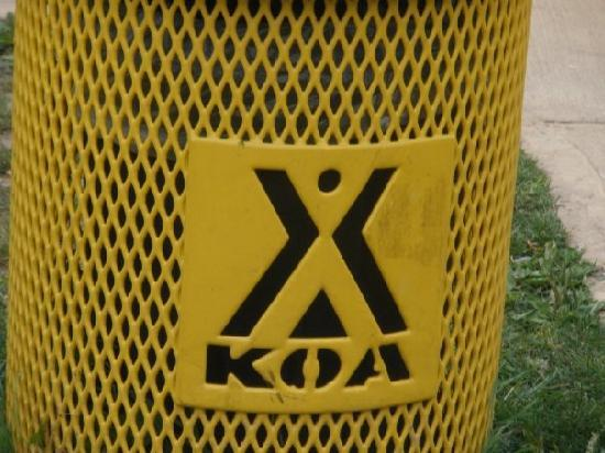 Watkins Glen-Corning KOA Camping Resort: This describes exactly how we feel about this KOA- it's a trash can.