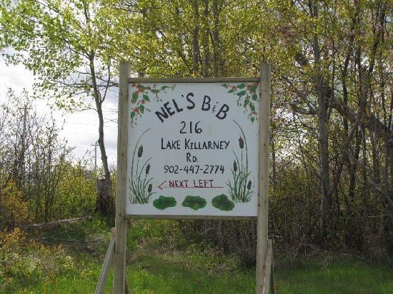 Lake Killarney, Canada: look for the sign