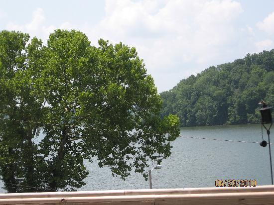 RedBones on the River: View of Lake from Upstairs Dining