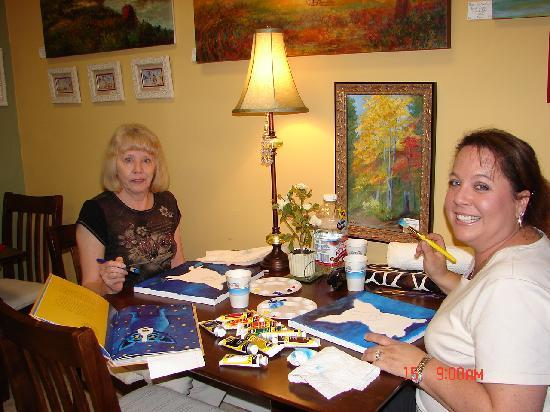 "The Lily Pond an Art Gallery & Tea Room: ""Take What You Make"" art class with artist Tina Naden check out the calendar for dates and times"