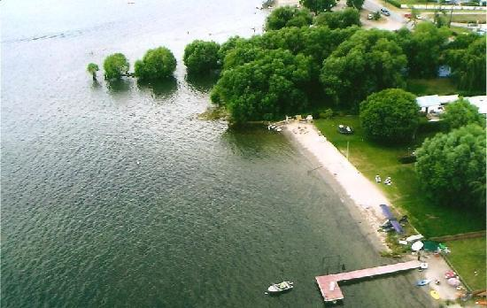 Lakeshore Paradise: View from the air