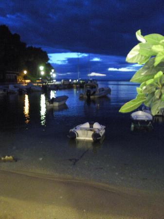 Agnondas Beach : Agnondas -lovely at night!