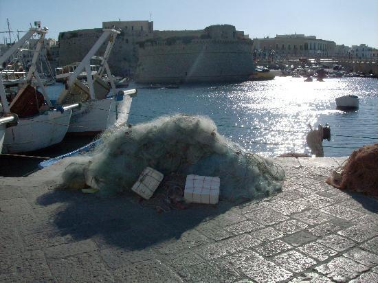 Gallipoli, Italien: Reti di pescatori