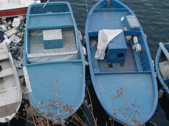 Gallipoli, Italien: Le barche dei pescatori