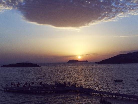 Grand Park Bodrum : View of Sunset from Italian Al A Carte