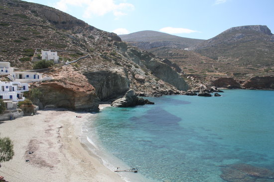 Folegandros, Greece: View from breakfast