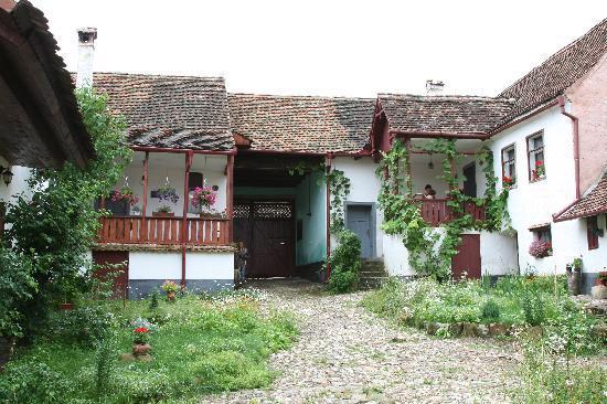 Casa cu Zorele: the courtyard