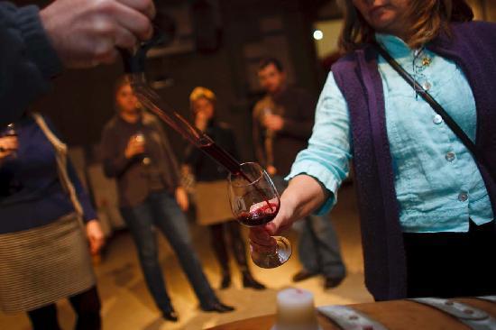 Charlottesville, VA: Arcady Tour special barrel tasting Pollak Vineyards