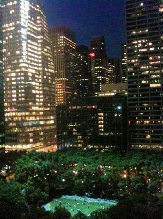 The Bryant Parkel View Of Bryant Park At Night From The 15th Floor
