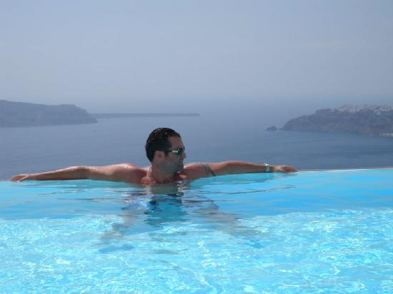 Anastasis Apartments: My Handsome New Husband enjoying the pool