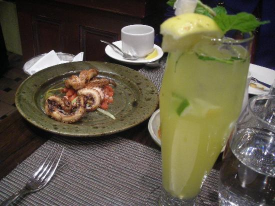 Molyvos: Grilled octopus and a lemonade