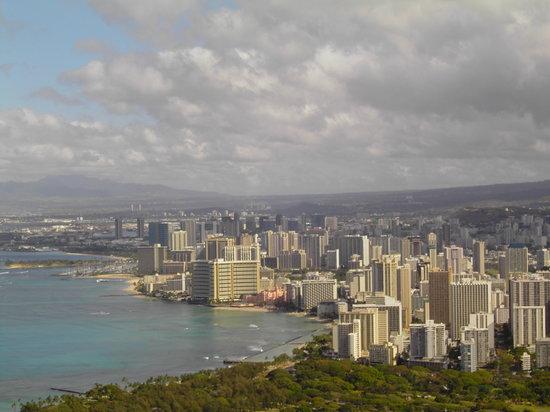 Aqua Bamboo Waikiki : Honolulu - view from Diamond Head