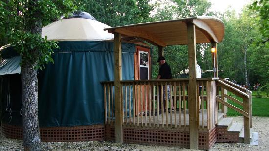 Camp Morton Provincial Park: Yurt (outside)